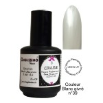 Vernis Semi Permanent UV LED blanc givré 39