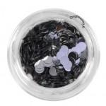 Confettis xl argent pour décor nail art
