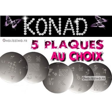 Lot de 5 plaques Konad au choix