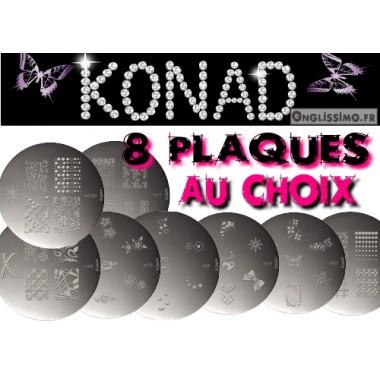 Stamping Lot de 8 plaques Konad au choix
