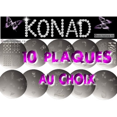 Konad stamping 10 plaques au choix