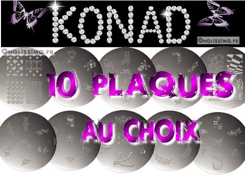 Konad stamping 10 plaques au choix AJOUTER