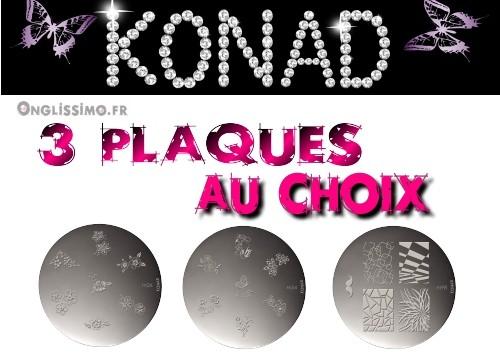 Stamping 3 plaques Konad au choix AJOUTER