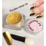 Poudre Miroir or nail art ongles