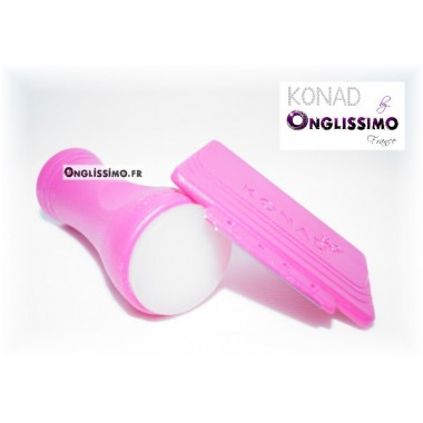 Konad Stamping Tampon 100% silicone translucide + raclette