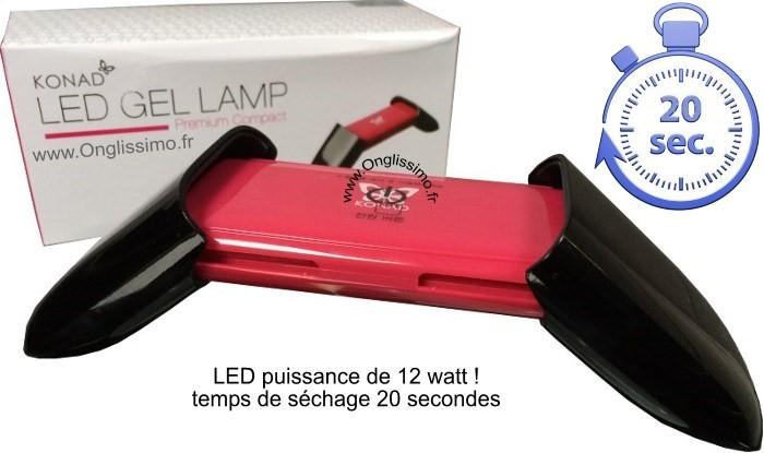 Lampe LED Gel + semi permanent Konad