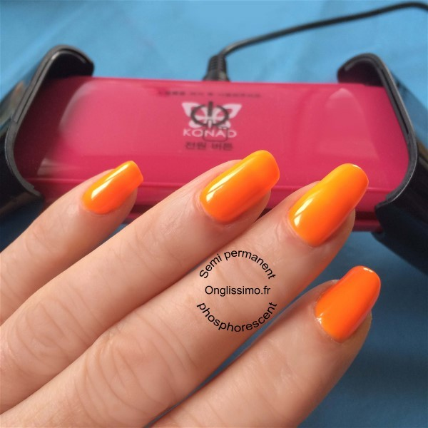 Vernis Semi Permanent orange fluo 41