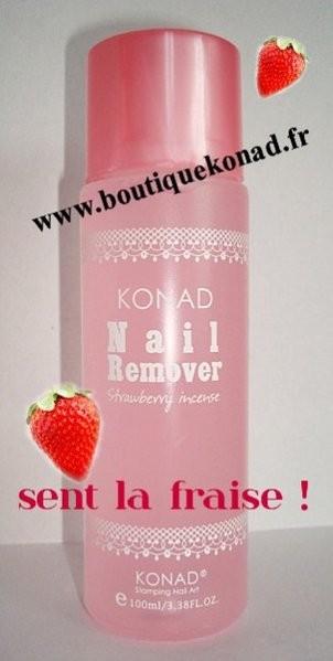 "Dissolvant Konad ""odeur fraise"""