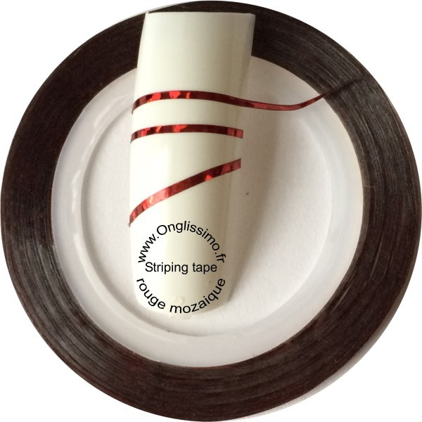 Striping tape rouge mozaique 04