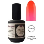 Vernis permanent thermo colors rouge rose 51