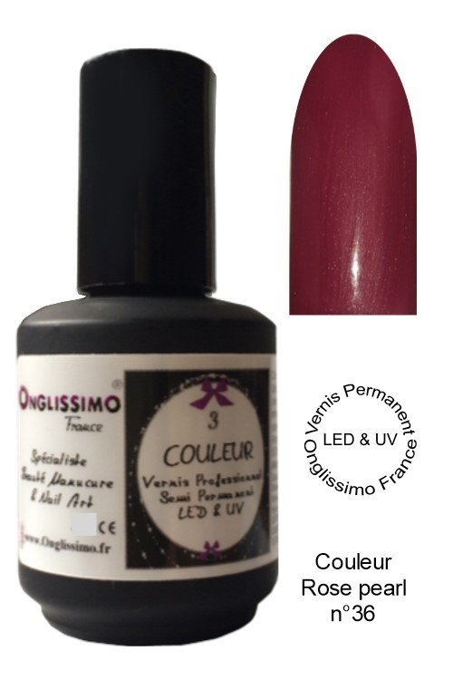 Vernis Semi Permanent Led Uv rose pearl 36