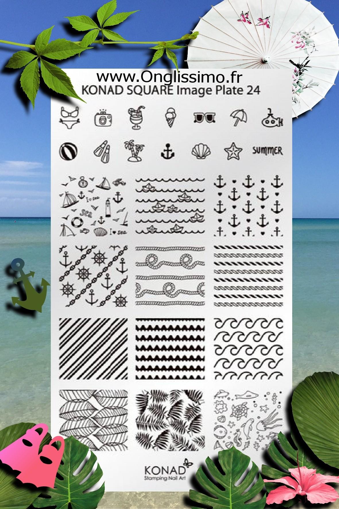 Stamping Plaque Konad SQ24 vacances