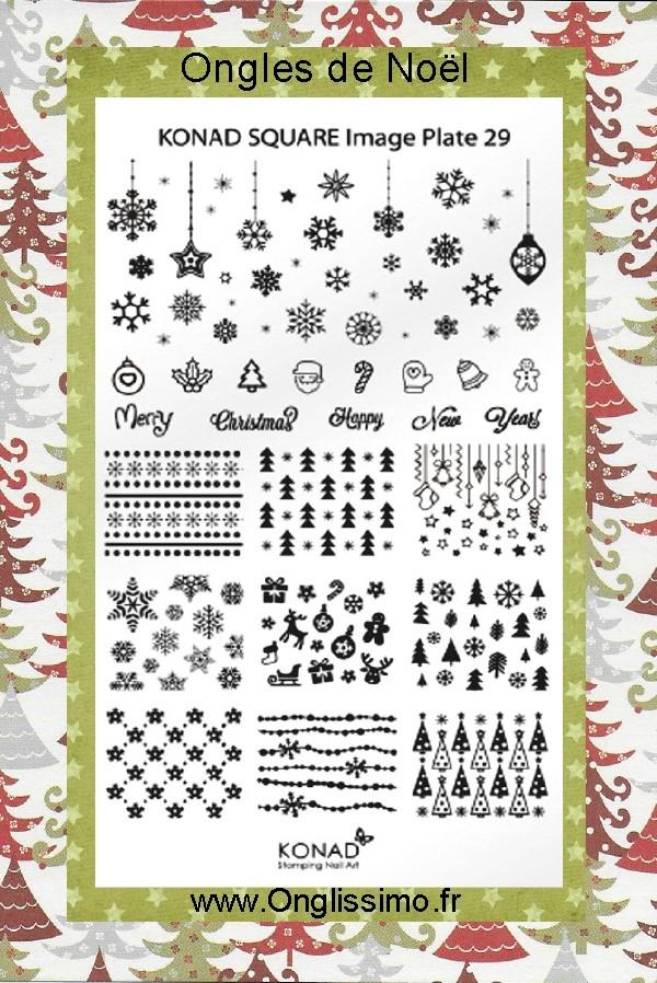 Stamping Plaque Konad® SQ29 Noël