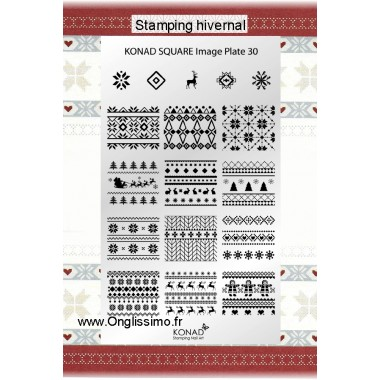 Stamping Plaque Konad SQ30 hivernal
