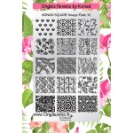 Stamping Plaque SQ32 flowers by Konad