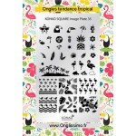 Stamping Plaque Konad® SQ35 tropical