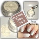 Poudre pigment blanc argenté nacré pour ongles