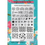 Stamping Plaque Konad SQ31 florale