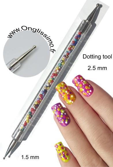 Dotting tool moyen 2.5 mm nail art Décorez vos ongles