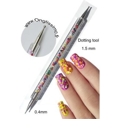 Dotting tool moyen 1.5 mm nail art Décorez vos ongles