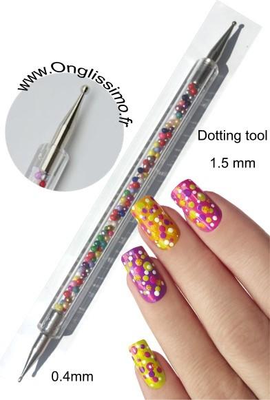 Dotting tool fin 1.5 mm nail art Décorez vos ongles