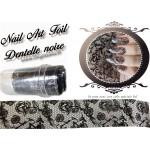 Foil Dentelle noire nail art