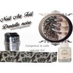 Foil Dentelle noire nailart  avec colle spéciale