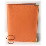 Carnet cuir orange range plaques stamping