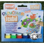 Peinture textile Playcolor 6 couleurs One