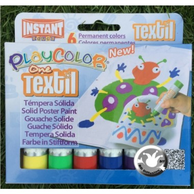 Peinture textile Playcolor 6 couleurs One