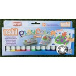 Peinture textile Playcolor 12 couleurs One