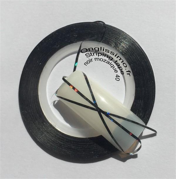 Striping tape noir mozaique n°40