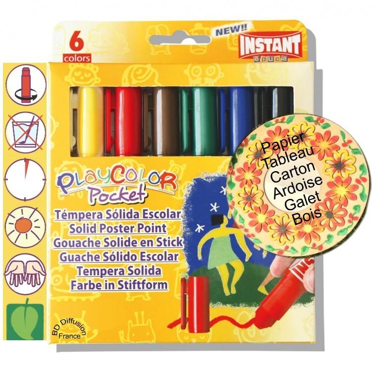 Peinture Playcolor 6 couleurs Basic pocket