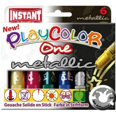 Peinture Playcolor Metallic One X6