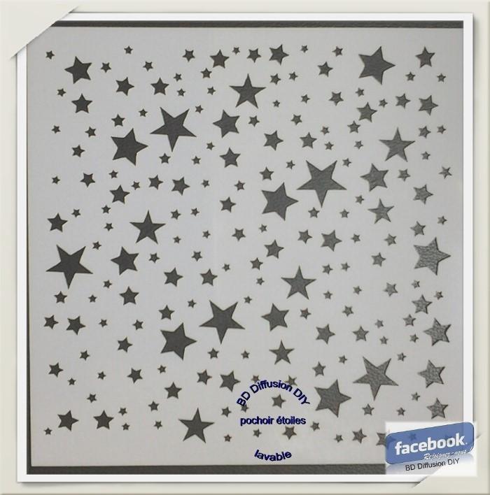 Pochoir pour peinture thème étoile