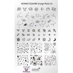 Stamping Plaque SQ23 zodiaque