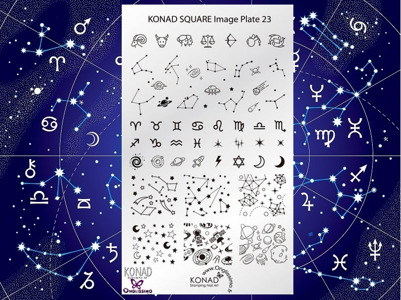 Stamping Plaque SQ23 constellation zodiaque