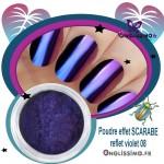 Poudre effet scarabé caméléon violet