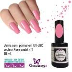 Vernis Semi Permanent Rose pastel 4