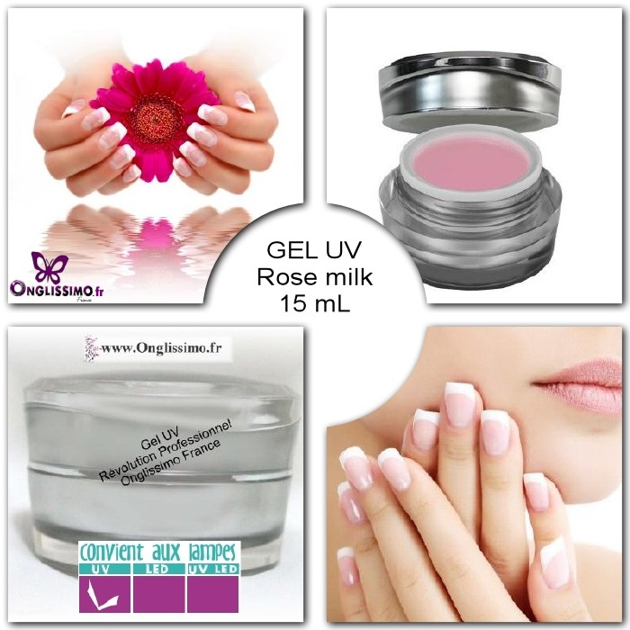 Gel UV french rose milk
