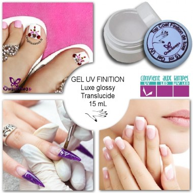 Gel UV LED de finition UV Luxe glossy Onglissimo