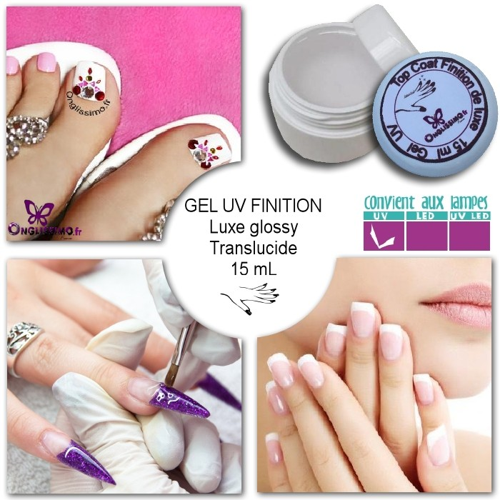 Gel UV de finition Luxe glossy Onglissimo