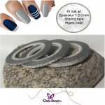 striping tape argent pearl autocollant 1mm 2mm 3mm