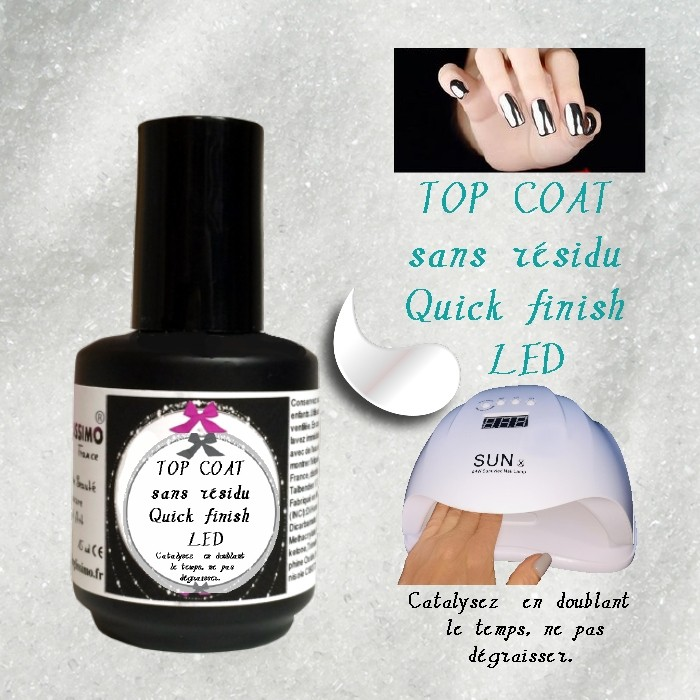 Top Coat Quick Finish pour Led Onglissimo