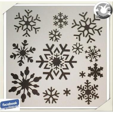 Pochoir flocons de neige lavable pour peinture