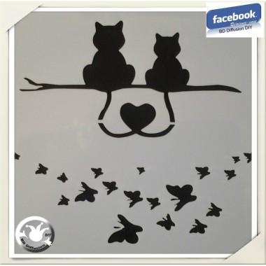 Pochoir Chats lavable pour peinture