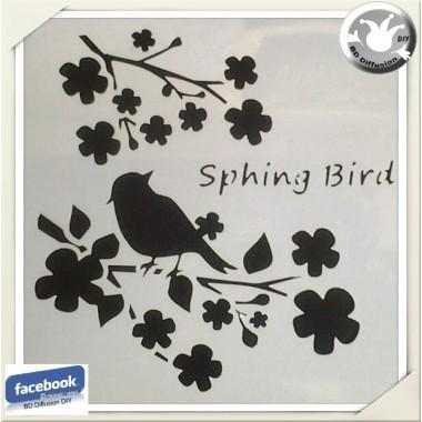 Pochoir lavable Branches aux oiseaux