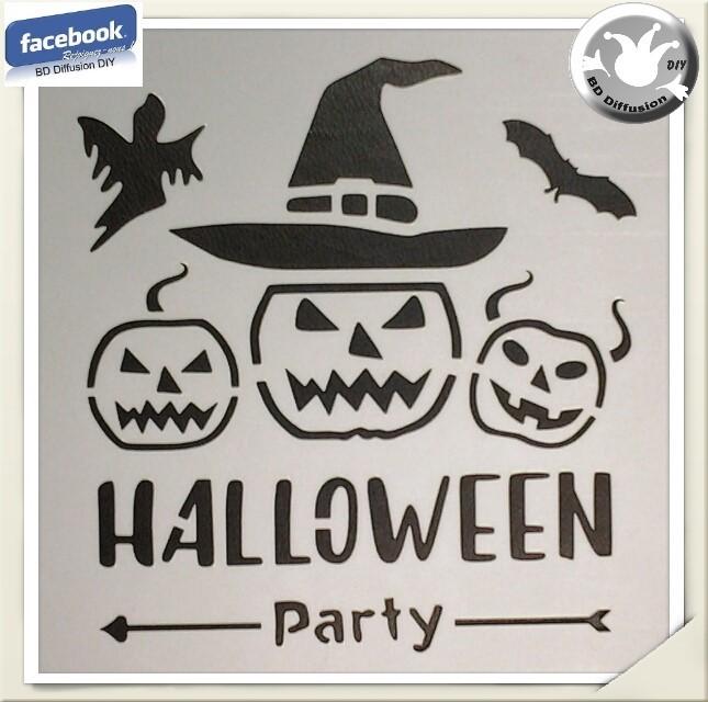 Pochoir lavable Halloween format A5