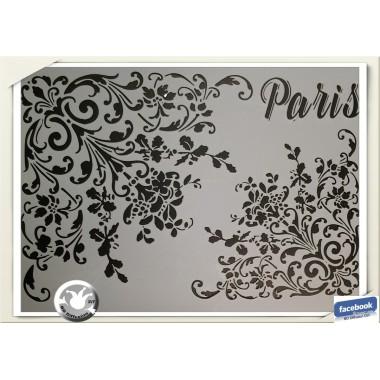 Pochoir format A4 lavable thème Paris