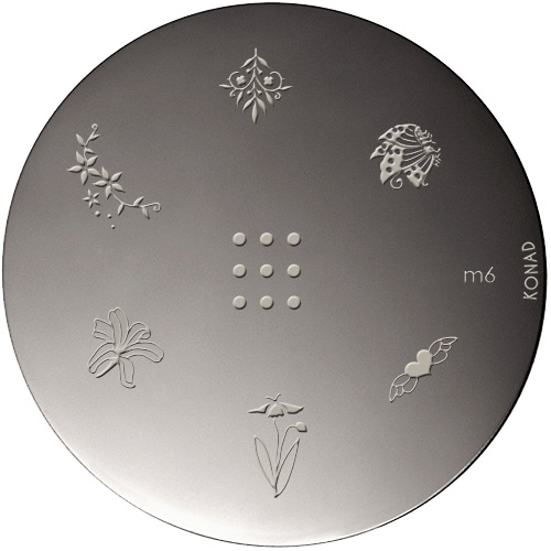 Plaque stamping Konad M6